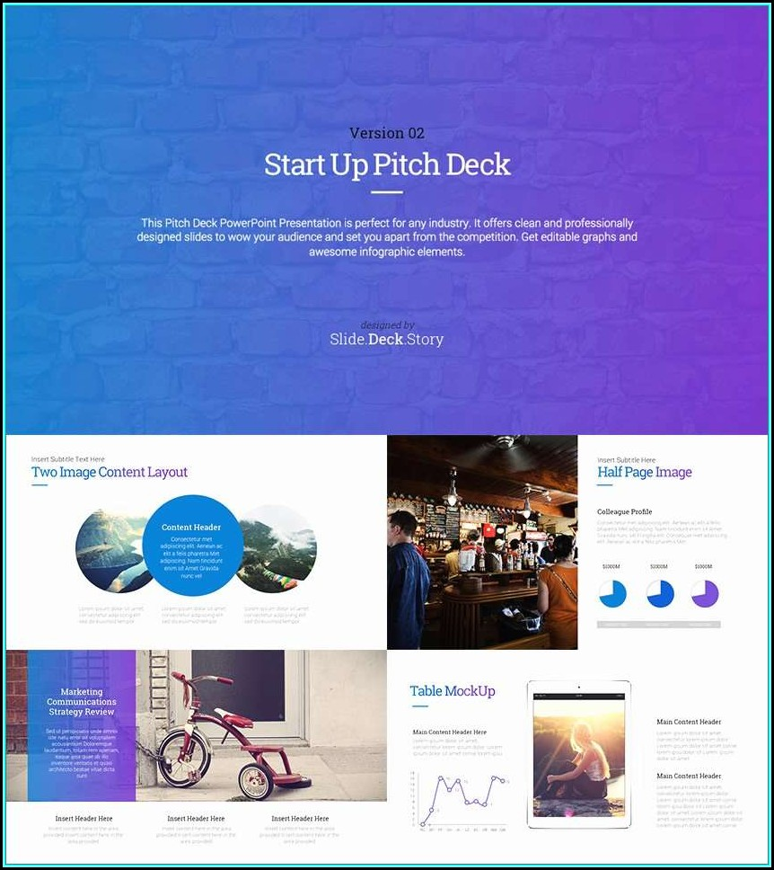 Best Startup Pitch Deck Template