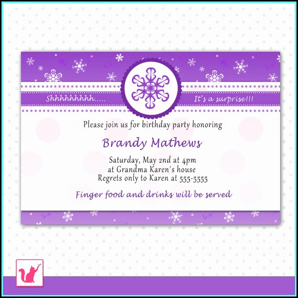 Birthday Party Invites Template Free
