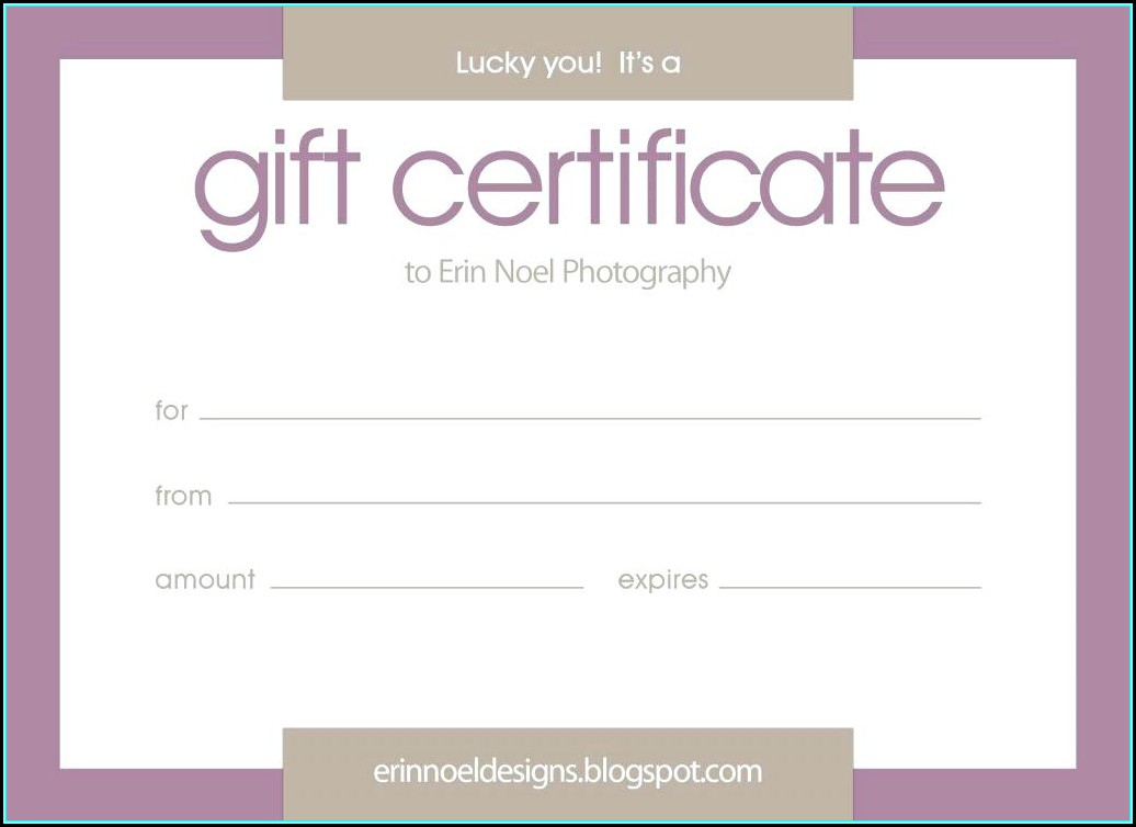Blank Gift Vouchers Templates Free