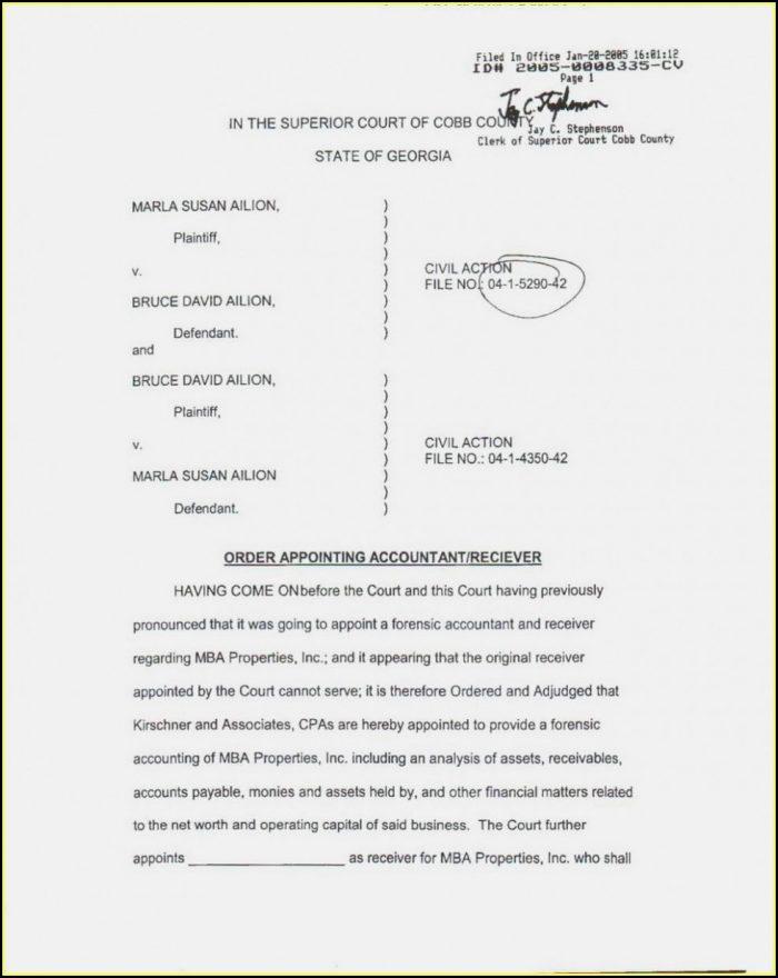 Cobb County Divorce Forms