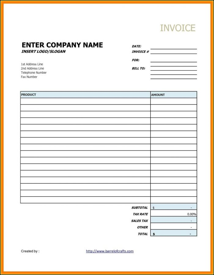 Contractor Invoice Template Google Docs