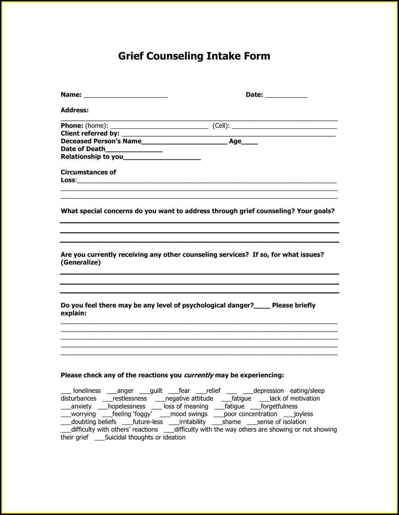 Esthetician Client Intake Form Sample