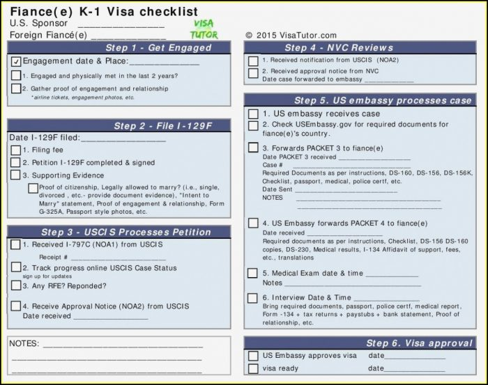 Fiance Visa Application Form