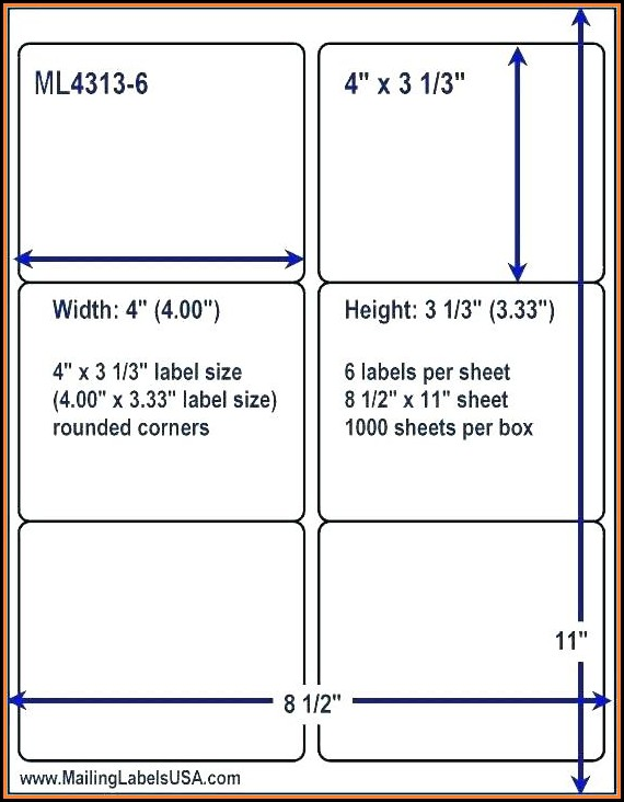 Free 2 X 4 Shipping Label Template