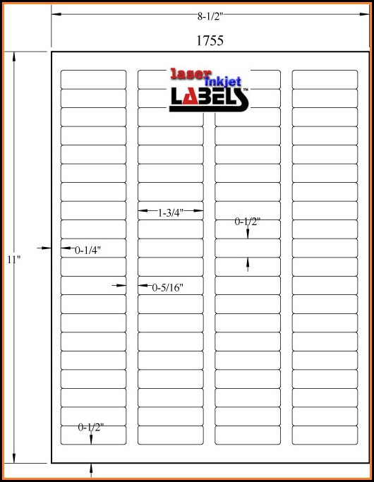 Free 4x4 Label Template