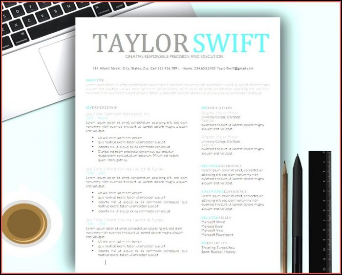 Free Creative Resume Templates For Mac Pages
