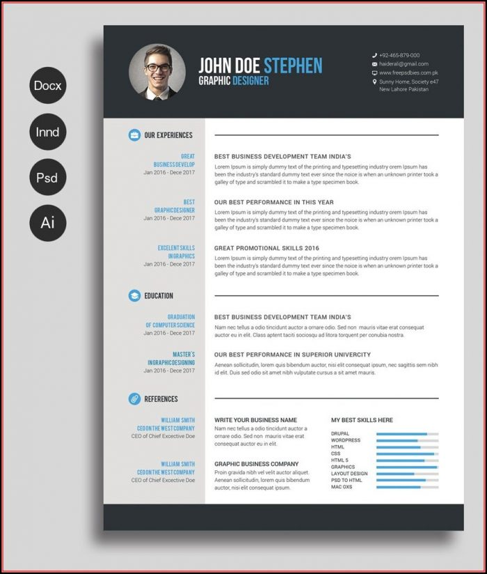 Free Design Resume Template Word