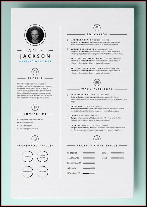 Free Design Resume Templates Word
