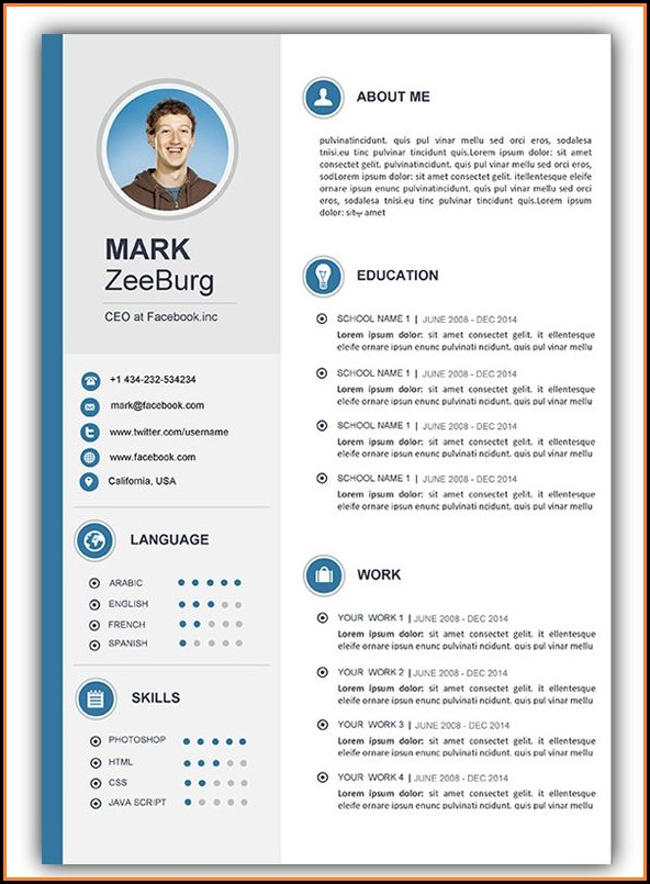 Free Microsoft Cv Templates For Word