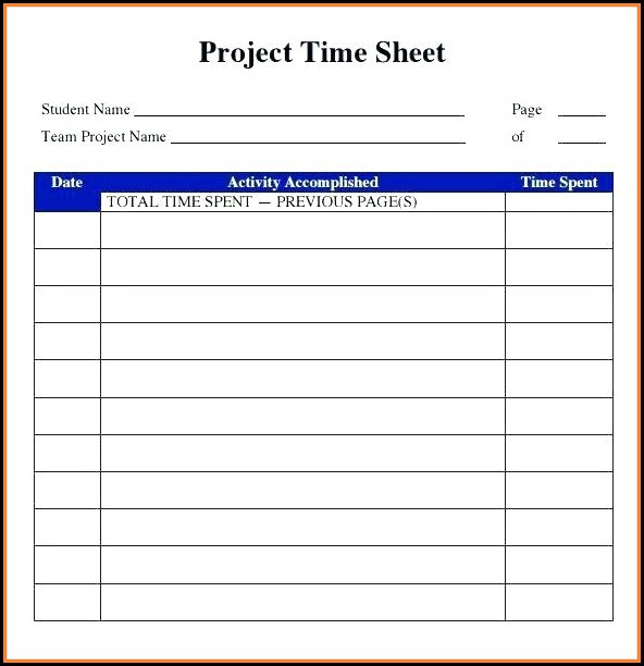 Free Online Printable Timesheet Template