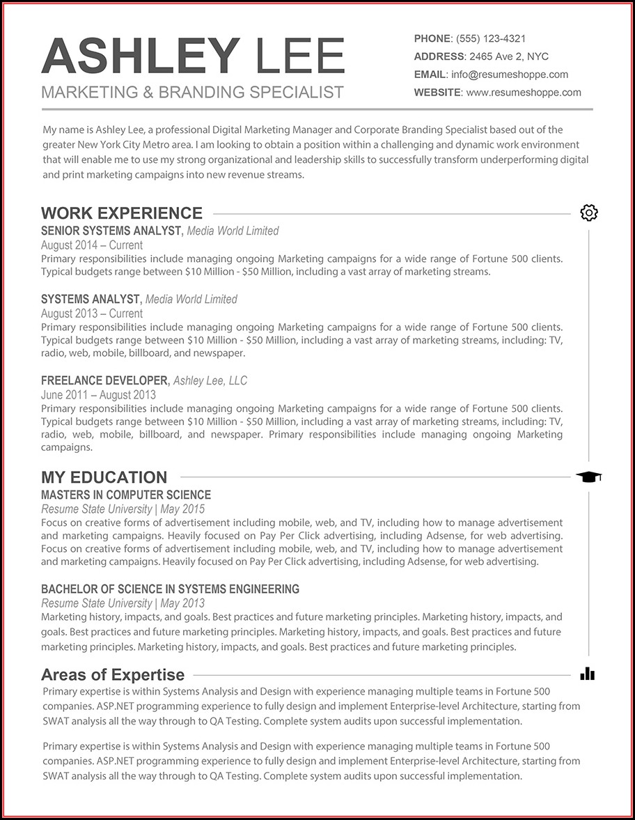 Free Resume Template For Mac - Resume : Resume Examples #Rg8D66yKMq