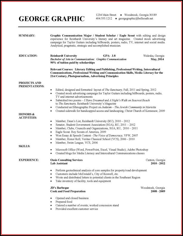 Free Resume Templates Samples Downloadable