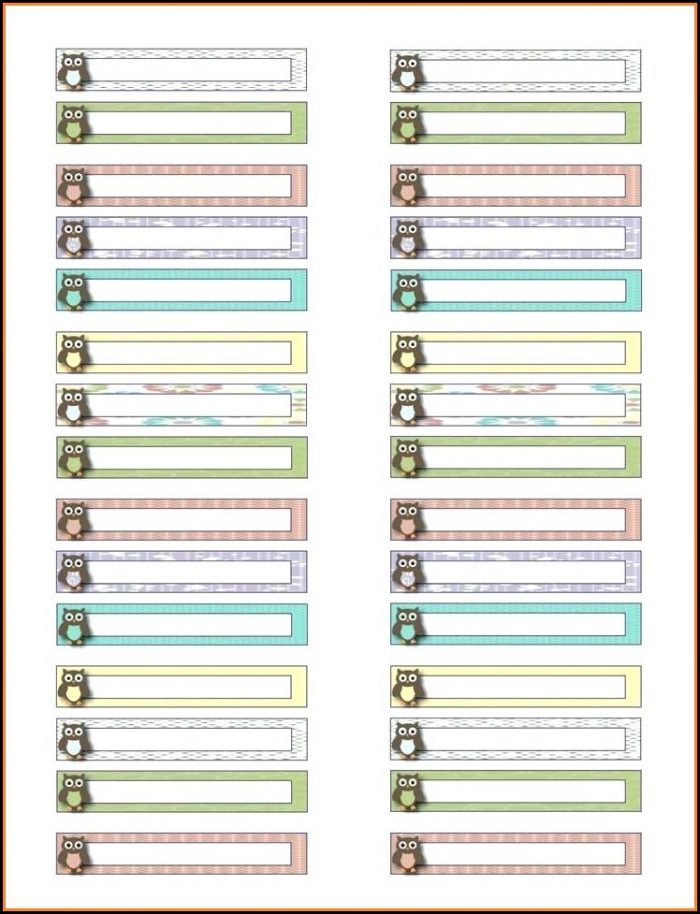 Free Template For Hanging File Folder Tab Inserts