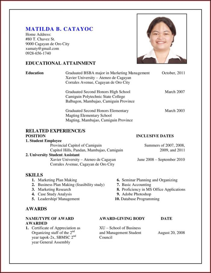 How To Prepare My Resume