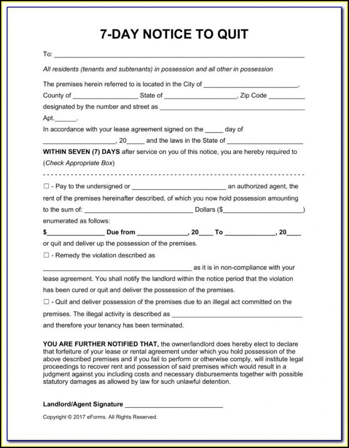 Florida 15 Day Eviction Notice Form
