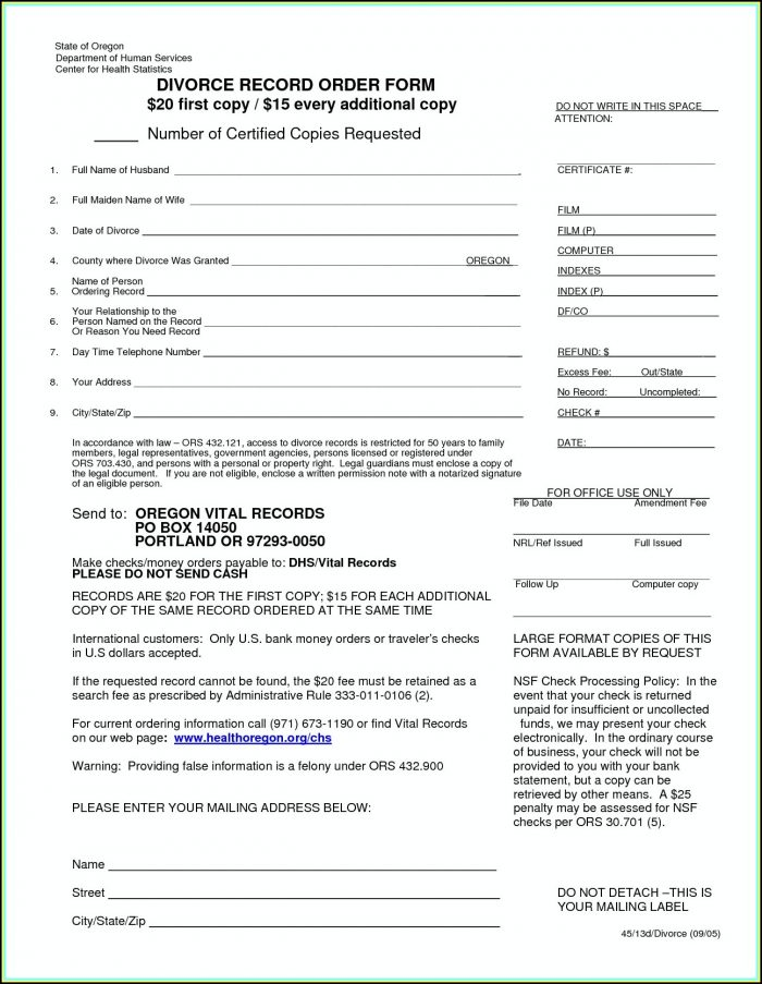 Franklin County Ohio Dissolution Of Marriage Forms