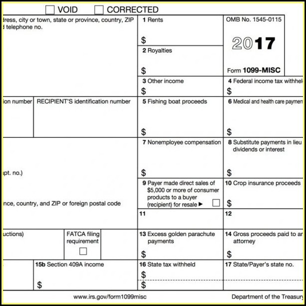 Free Downloadable 1099 Misc Form 2016 Form Resume Examples