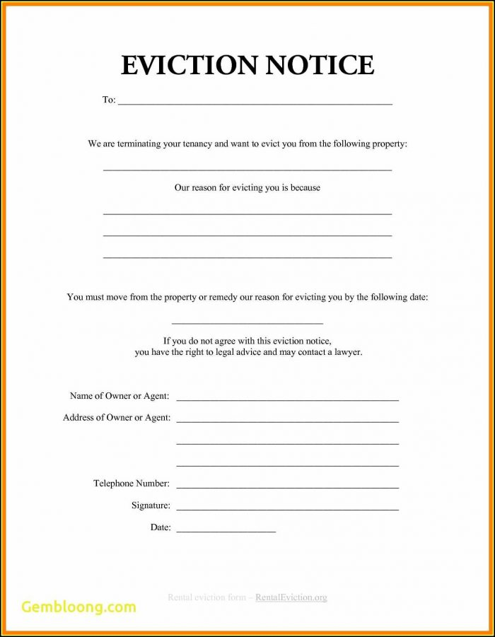 Free 30 Day Eviction Notice Form Illinois