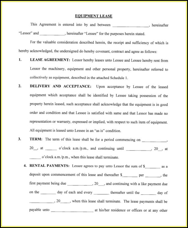 Free Blank Printable Rental Agreement Forms