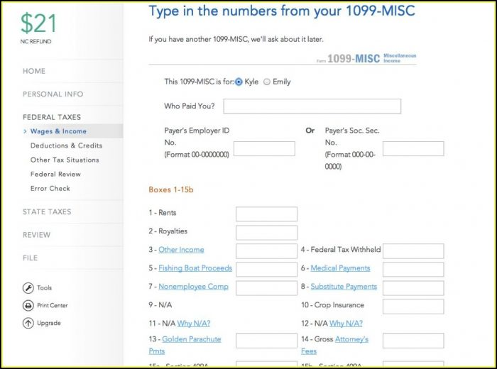 Free Online Fillable 1099 Misc Form 2014