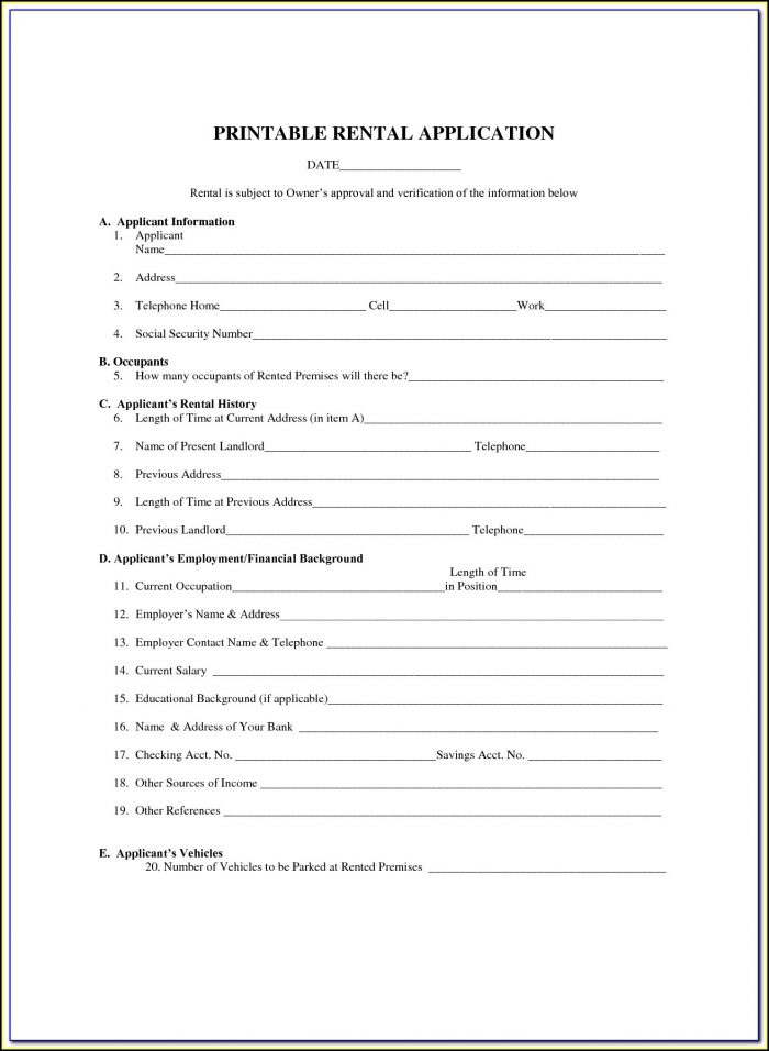 Free Printable 6 Month Lease Agreement Form