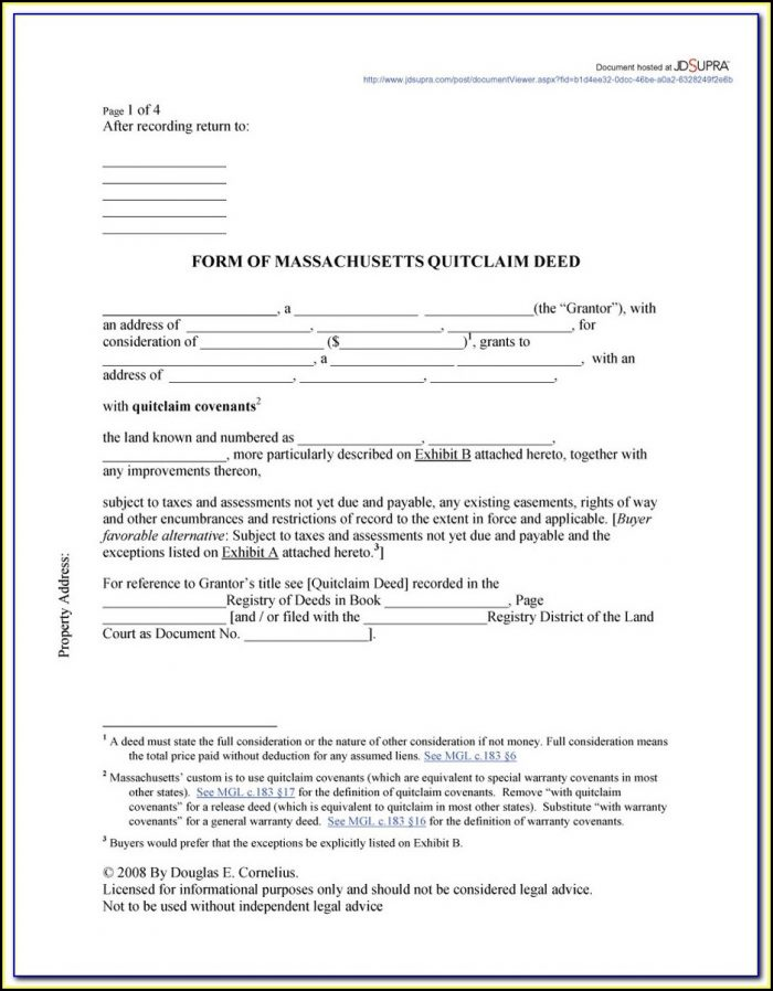 Free Quit Claim Deed Form For Volusia County Florida