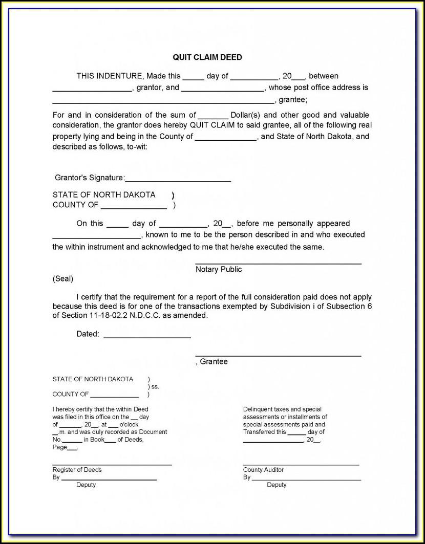Free Quit Claim Deed Form Osceola County Florida