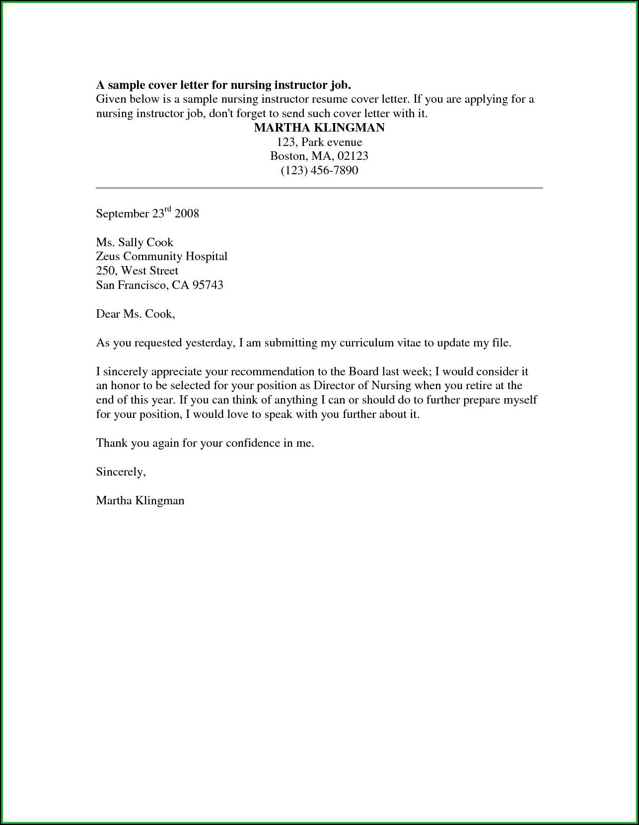 Nursing Resume Cover Letter Template Free Resume Resume Examples