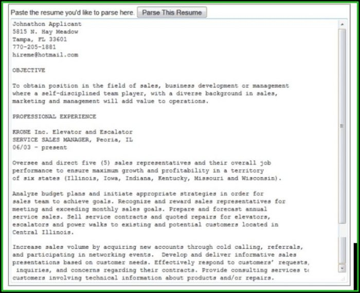 Rchilli Resume Parser Free Download