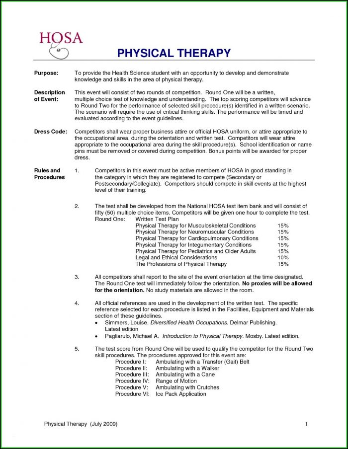 Resume Format For Physiotherapist Job