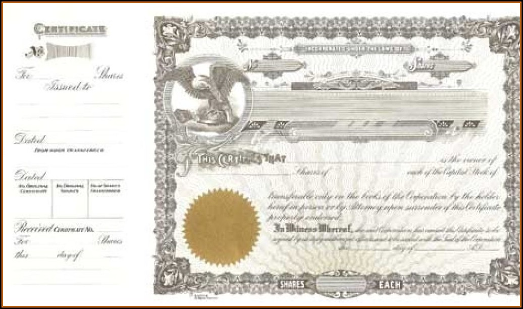 Goes 50 Stock Certificate Template