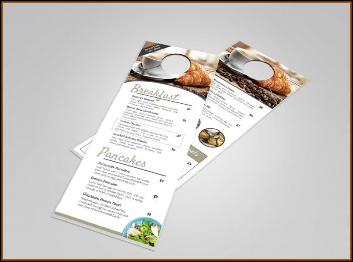 Hotel Breakfast Menu Door Hanger Template