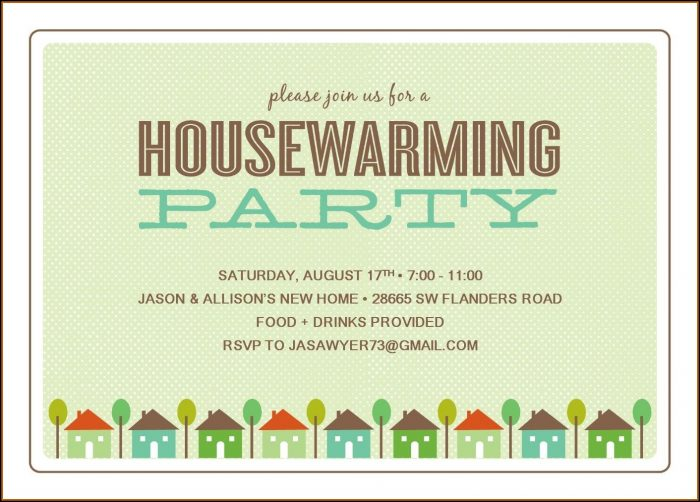 Housewarming Party Template Free
