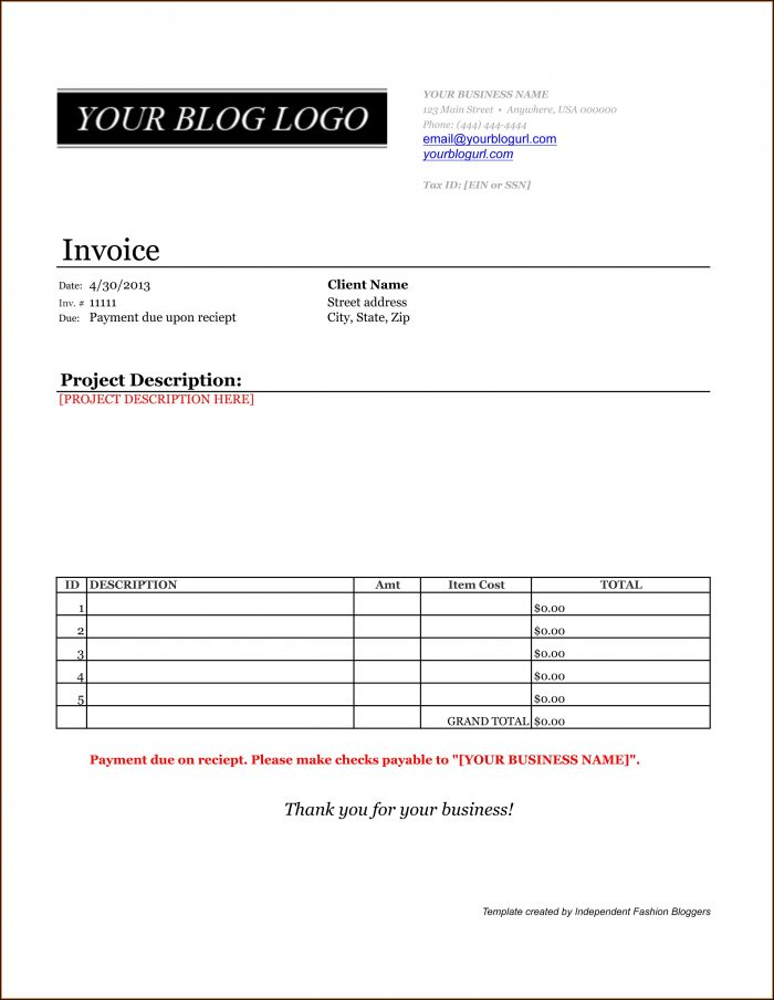 Invoice Paid Template