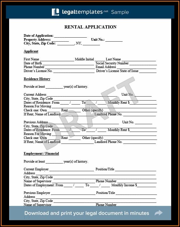 Microsoft Word Rental Application Template