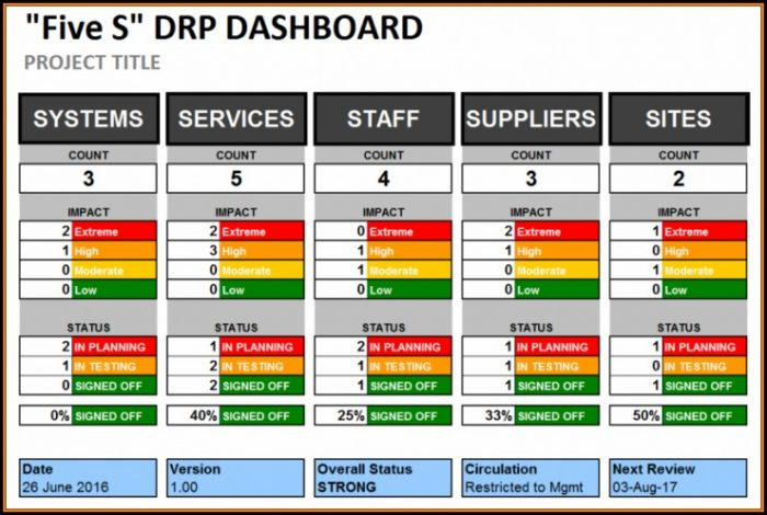 Multiple Project Dashboard Template Excel