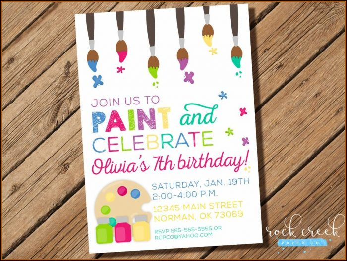 Pottery Party Invitation Templates