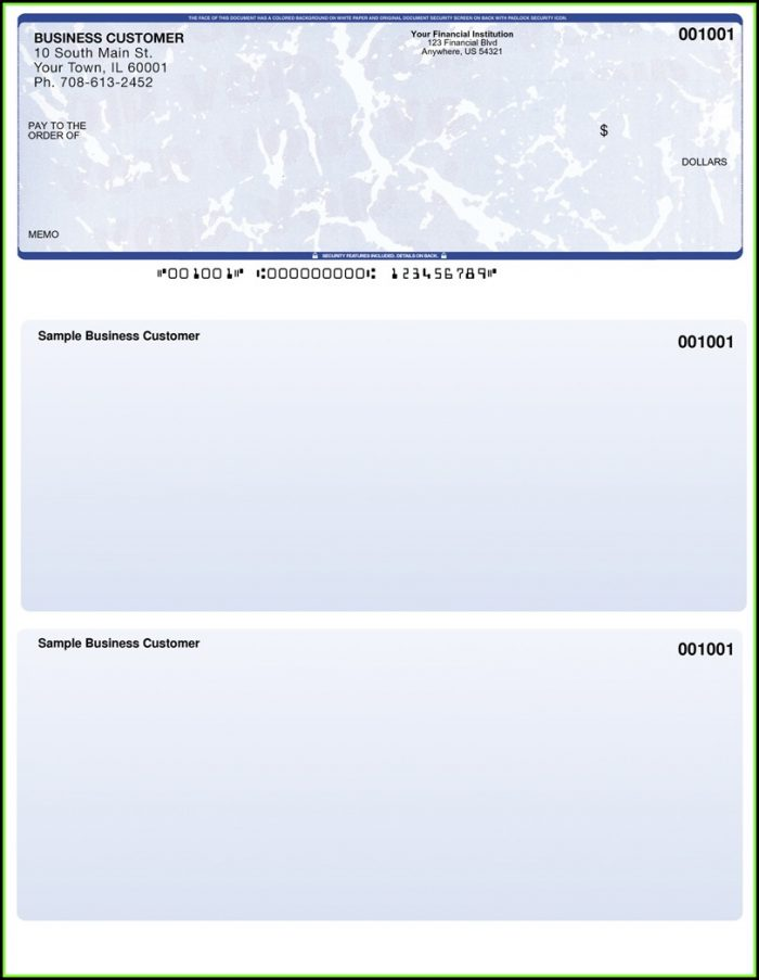Business Check Printing Template Excel