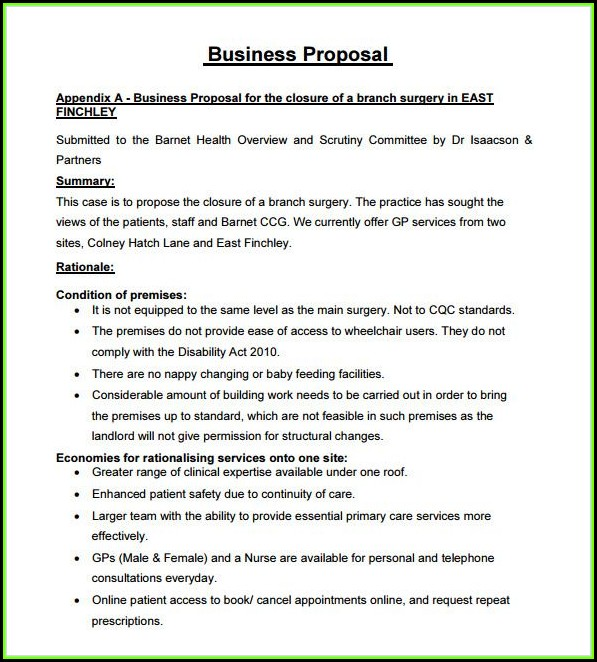 Business Proposal Sample Pdf Download