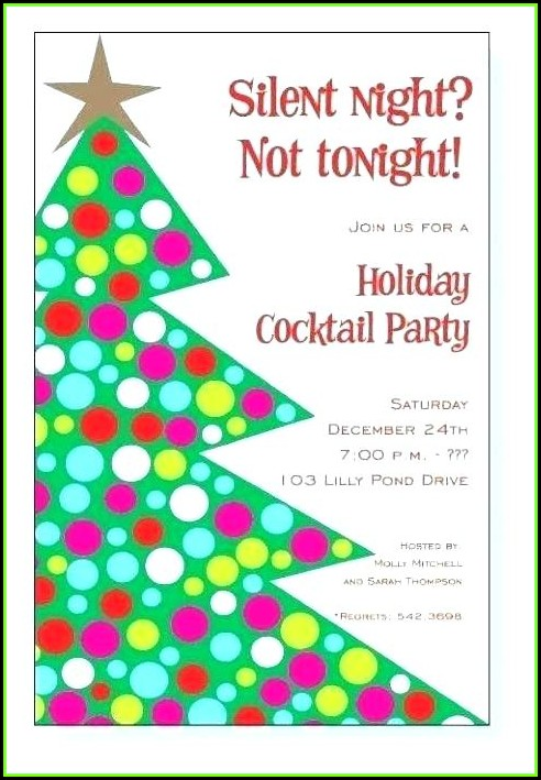 Christmas Potluck Party Invitation Template