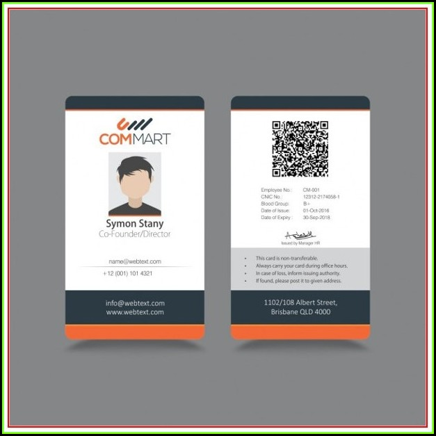 Company Id Badge Template Free