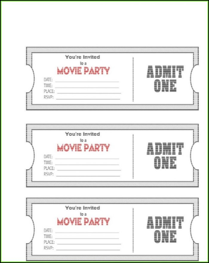 Concert Ticket Template Free Download Word