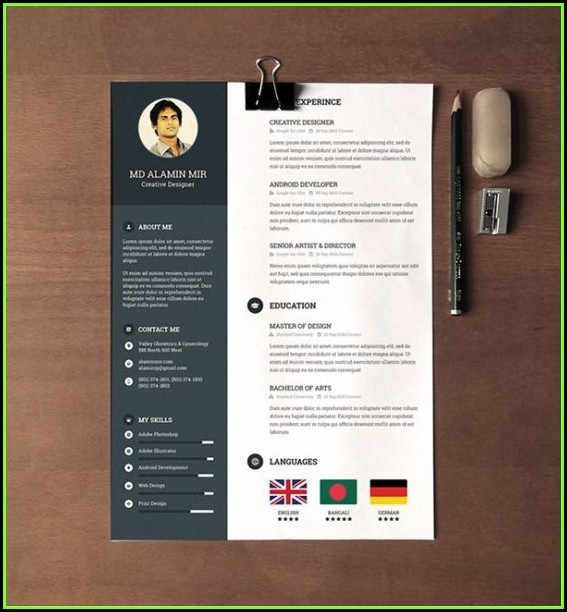 Creative Resume Template Free Download Doc