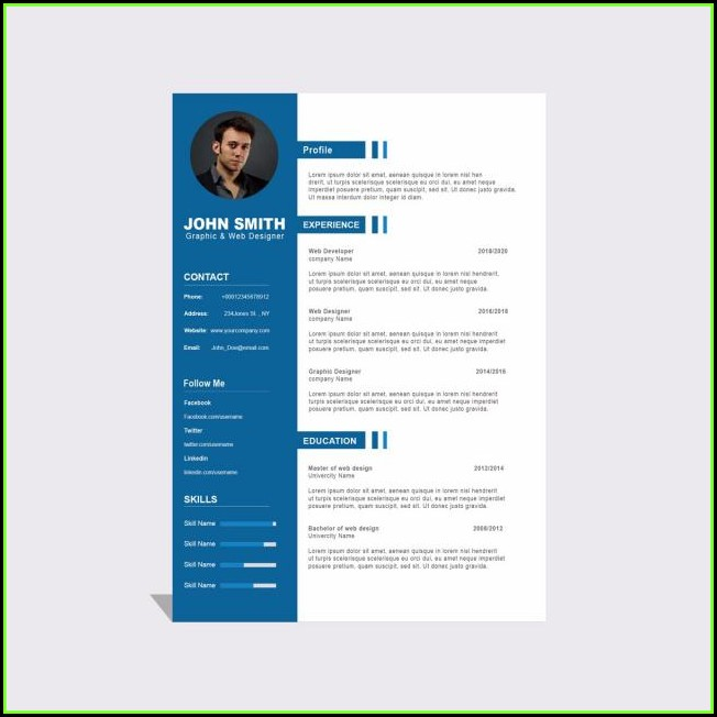 curriculum vitae template free download for students