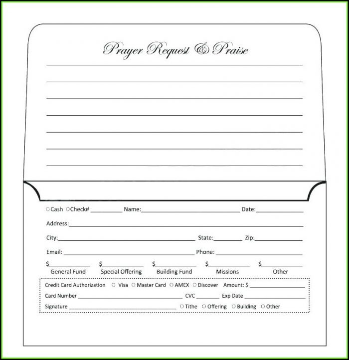 Donation Remittance Envelope Template