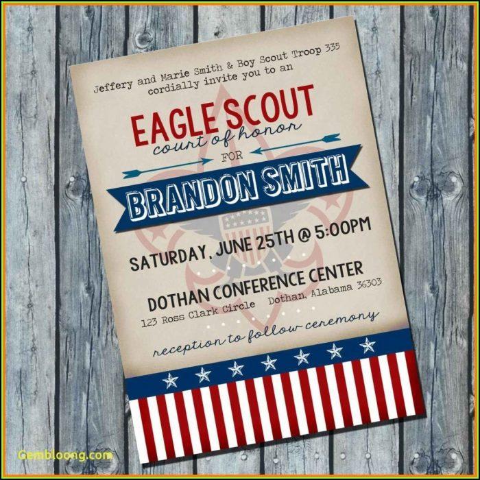 Eagle Scout Invitation Template