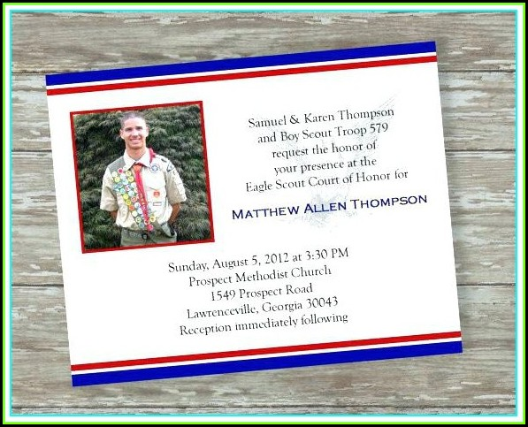 eagle scout invitation template free