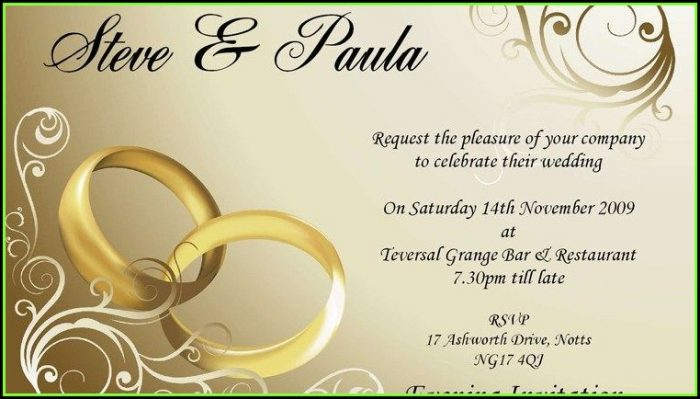 Editable Wedding Invitation Templates Download
