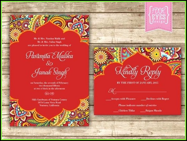 Editable Wedding Invitation Templates Free Download India