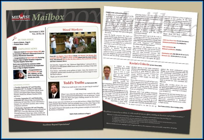 Employee Newsletter Layout Ideas